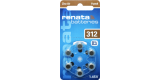 RENATA Hearing Aid Battery Zinc-Air 1.45V - ZA312 (Brown) 0% Mercury